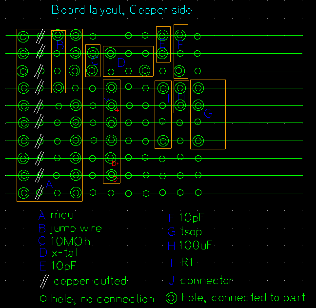 USB-IR-Boy Board Layout